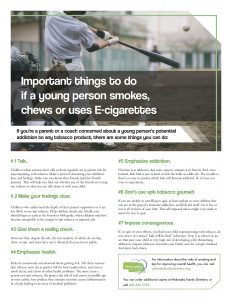 e cig for tips coaches handout