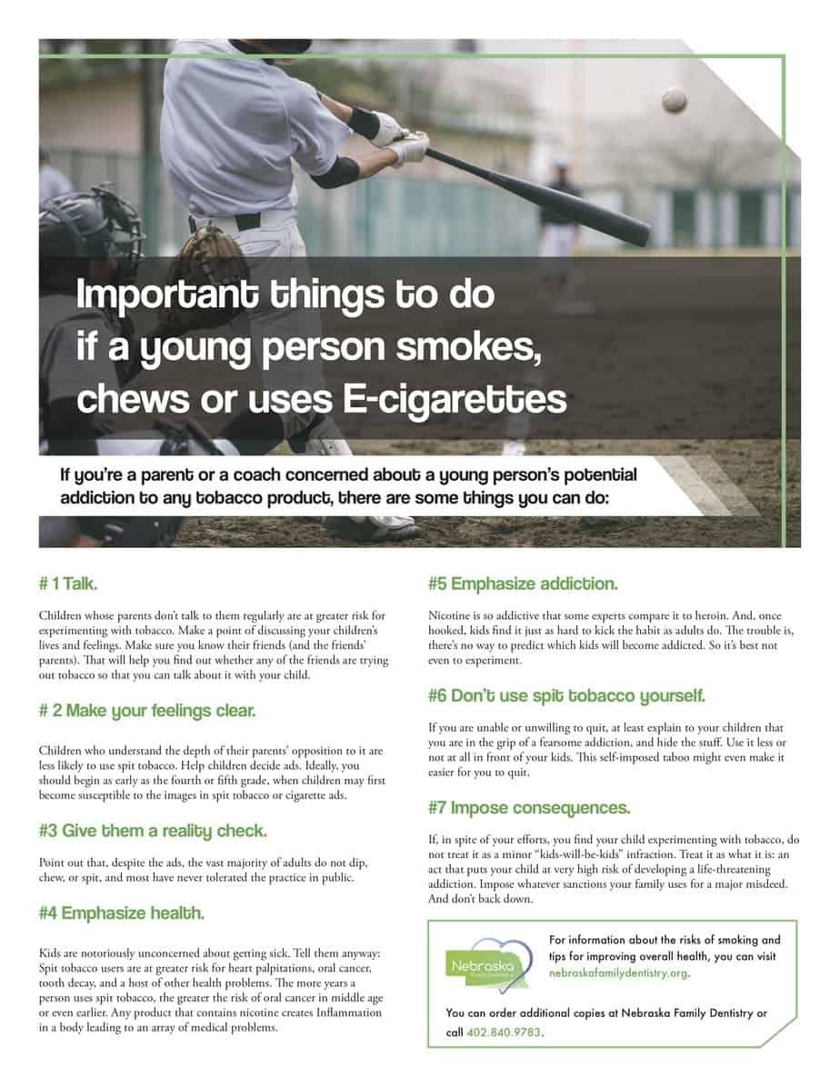 e cig for tips coaches handout