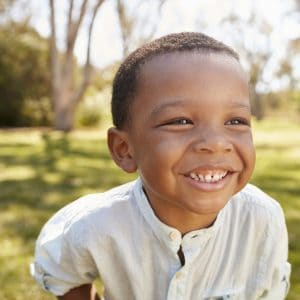 children's dentist for happy boy in Lincoln, NE