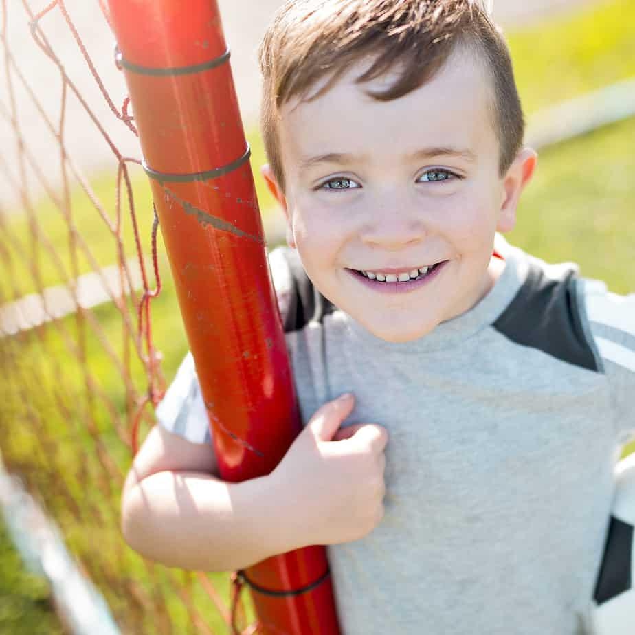 soccer boy happy
